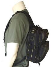 Bolso bandolera viaje negro / amarillo casual mochila 10 litros estilo militar
