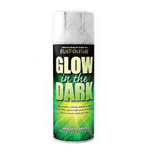 x2 Rust-Oleum Glow In The Dark Luminous Bright Green Aerosol Spray Paint 400ml
