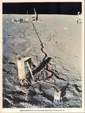 "8 1/4 X 11"" NASA PHOTO APOLLO-14 SIDE MET& ALSEP ON MOON SURFACE VERY GOOD COND"