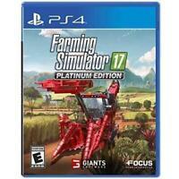 NEW Sealed PS4 Farming Simulator 17 playstation game Platinum ed SHIPS TOMORROW