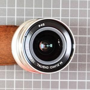 Olympus M.Zuiko Digital ED 12mm F2.0 Lens Silver...Original Owner Mint
