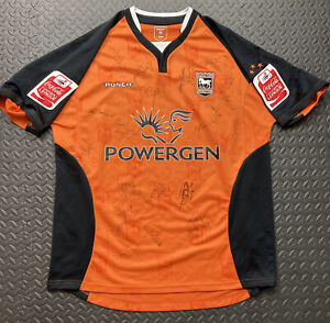 ipswich town shirt Squad signed Original with CocaCola arm patches size large