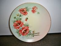 IMPERIAL EMPIRE PSL AUSTRIA HAND PAINTED FLORAL PLATE  8''
