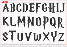 Harry Potter Letters Alphabets Stencil MYLAR A4 sheet strong reusable craft deco
