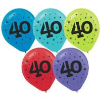 """40"" Printed Latex Balloons (15 Pack) 12"""