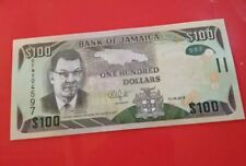Jamaica $100 Dollars 2018 Uncirculated Banknotes UNC Currency Money Collectables