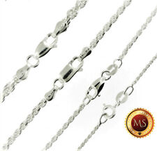 Italy 925 SOLID Sterling Silver Diamond-Cut ROPE Chain Necklace or Bracelet