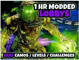 COD Cold War Zombies Modded Boosting Lobby - Camo Unlocks  Weapon XP