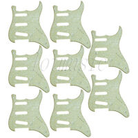 8 Mint Green Pearl Electric Guitar SSS 3 Ply Pickguard For Fender Stratocaster