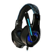 Somic G95 Led Azul Auriculares Para Juegos Y Micrófono Para gmaer Razer Msn Skype Reino Unido