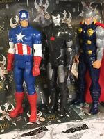 Lot of 3 Marvel Heroes Legends 12 Inch Action Figures, Thor, Captain America...