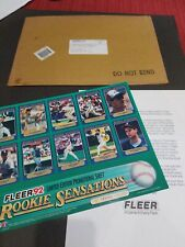 1992 FLEER ROOKIE SENSATIONS PROMO SHEET BASEBALL  LIMITED EDITION RARE SEALED