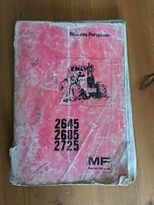 MASSEY FERGUSON 2645 2685 2725 OPERATORS MANUAL