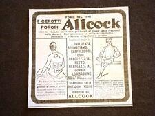 Pubblicità d'Epoca per Collezionisti Cerotto poroso di Allcock