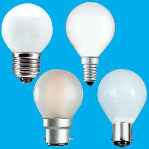 10x Opal Golf Round Dimmable Standard Light Bulbs 25W 40W 60W BC ES SBC SES Lamp
