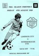 1989/90 Limerick City v Peterborough United, friendly - PERFECT CONDITION