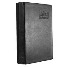 Carnet Cahier Bloc De Notes Memo Papier Calepin Agenda Journal PU Cuir Noir R6W7