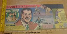 Don Ameche Ray Bolger Grable Seein' Stars Feg Murray 1940s Sunday color panel 3c