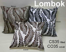 Beautiful Leaf  cushion cover - Lombok - ALMOND - Stitched Detailing Quality