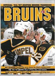 1996-97 Boston Bruins Hockey Team Yearbook---- Excellent