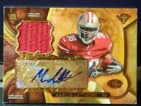 MARCUS LATTIMORE 49ERS 2013 TRIPLE THREADS GOLD ROOKIE AUTO RED PATCH SP 02/25