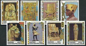 Zentralafrika - Schätze aus Grab Tut-ench-Amuns Satz postfrisch 1978 Mi. 578-585