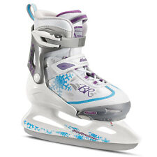 Rollerblade Micro Ice G Girls Adjustable Skates, Small, White/Blue (Open Box)