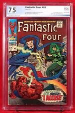 FANTASTIC FOUR #65 PGX 7.5 VF- FIRST RONAN GOTG & Avengers - UNPRESSED + CGC!!!