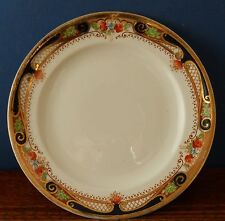 A vintage Hand coloured 7 inch plate Heathcote best bone china
