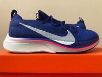 official photos a68d4 7ba47 Nike Vaporfly 4% Flyknit Deep Royal Blue Size 6.5-12 AJ3857-400 100