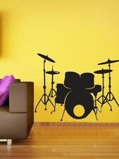 Drum Set Wall Sticker Drummer Music Wall Decal Bedroom Kids Home Office Décor