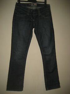AB3 ) WOMENS BLUE RIVER ISLAND STRAIGHT JEANS ZIP FLY SIZE 10R  LEG 28
