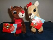 New Dan Dee Set Of 2 Rudolph & Clarice Christmas Holiday Officially Licensed Re
