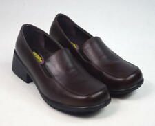SHOES FOR CREWS Brown Leather Work Kitchen Nurse Occupational Shoes Womens 10