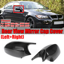 Real Carbon Fiber Mirror Cap Cover Replacement For BMW E90 E91 E92 E93 PRE-LCI