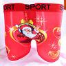 Funny Xmas Christmas Gift Love Santa Cotton Men Boxer Shorts Trunks L XL 2XL 3XL