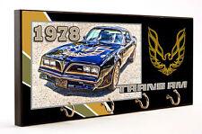1978 PONTIAC TRANS AM AUTO CAR WOOD 4 KEY HANGER HOLDER USA MADE