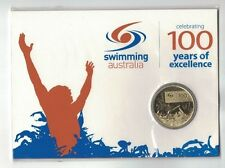 2009 Swimming Australia 100 years of Excellence Carded $1 Coin