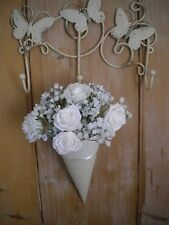 8x CHURCH PEW ENDS, WEDDING PEW ENDS, LACE ,HANGING DECORATION, WHITE/IVORY