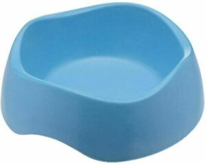 Beco Pets Bamboo Dog Food & Water Bowl, Non-Slip Sturdy Easy Clean, Blue, Small