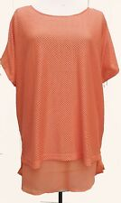 New – YOURS – Coral 2xLayer Top SIZE 20