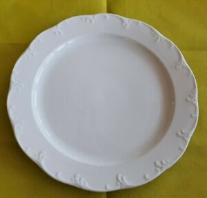 G 3: Rosenthal Weiß Monbijou Classic Rose Service Teller Speiseteller  25,5cm ○