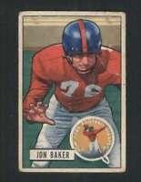 1951 Bowman #57 Jon Baker GVG NY Giants 100592