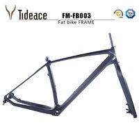 26er Full Carbon Fiber Fat Bicycle Frames 16/18/20 Carbon BSA Snow Bike Frameset