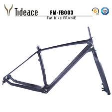 Full Carbon Fiber Snow Bike Frames 26er Carbon Fat Bicycle Frameset Thru Axle