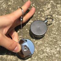 Retractable Metal Reel Badge ID Holder Belt Clip Nurse Name Card Key Ring Gifts
