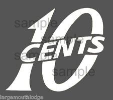 "2"" Vintage Style 10 c Cent Vending Decal White Machine Cut Vinyl Transfer"