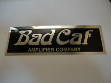 BAD CAT ELECTRIC GUITAR AMPLIFIER DECAL STICKER CASE RACK BUMPER STICKER CHROME