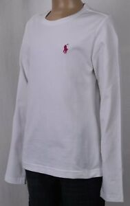 Polo Ralph Lauren Girls White Long Sleeve Crewneck Tee T-Shirt NWT