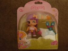 PINYPON Violet Poil Figure & LAPIN NEUF